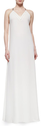Andrew Marc V-Neck Georgette Maxi Dress $102.75 thestylecure.com