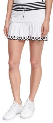 Monreal London Ombre-Trim Sport Skirt, White