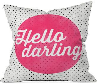 """Deny Designs Allyson Johnson Hello Darling Dots 16"""" Square Decorative Pillow"""
