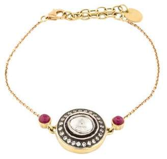 Amrapali 18K Diamond & Ruby Bracelet