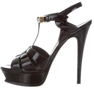 Saint LaurentSaint Laurent Patent Leather Tribute Sandals