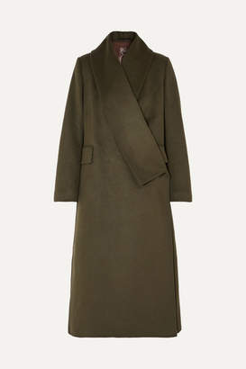 Golden Goose Kigiku Wool-blend Coat - Green