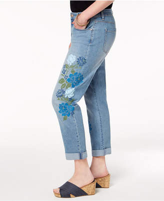 Style&Co. Style & Co Stenciled Boyfriend Jeans, Created for Macy's