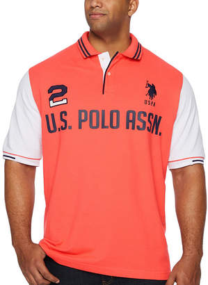 U.S. Polo Assn. USPA Embroidered Short Sleeve Knit Polo Shirt Big and Tall