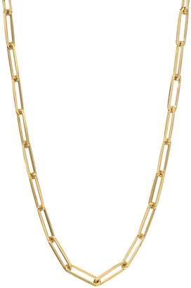 Dru Large Long Link Chain Necklace - Yellow Gold