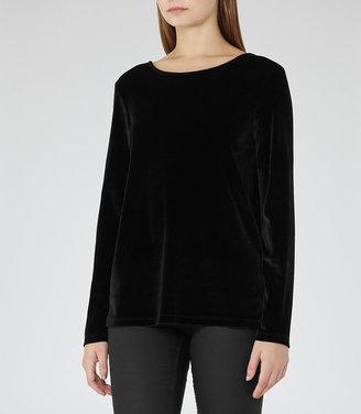 Maz Velvet Long-Sleeved Top $125 thestylecure.com