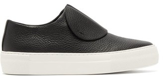 Primury - Paper Planes Slip On Leather Trainers - Womens - Black White