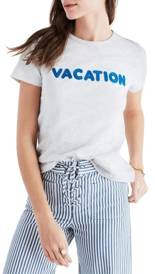 Women's Madewell Vacation Embroidered Tee
