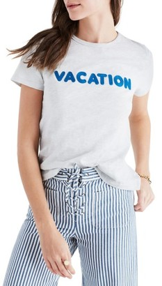 Women's Madewell Vacation Embroidered Tee $35 thestylecure.com
