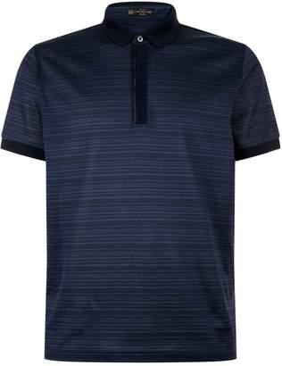 Corneliani Tonal Stripe Polo Shirt
