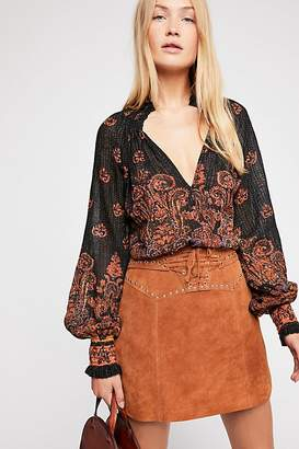 Fp One FP One Smocked Paisley Top