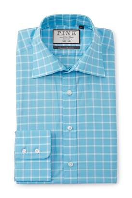 Thomas Pink Slim Fit Horseforth Check Dress Shirt