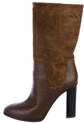 Vince Round-Toe Mid-Calf Boots