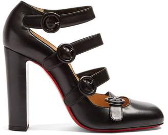 Christian Louboutin Mistiroir 110 Leather Pumps - Womens - Black