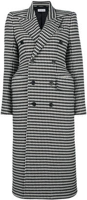 Balenciaga houndstooth double breasted coat