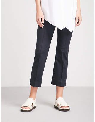Sportmax Pompei cropped mid-rise stretch-cotton trousers