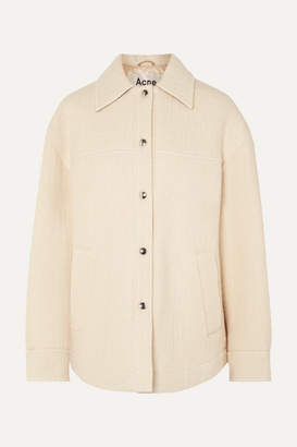 Acne Studios Ocilia Cotton, Wool And Alpaca-blend Jacket - Ecru