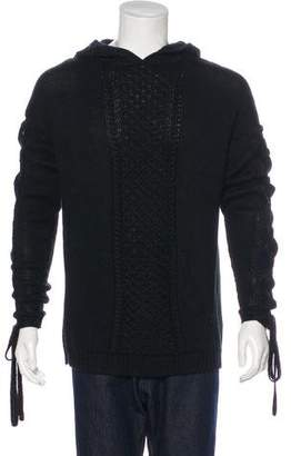 Stampd Alpaca-Blend Cable Knit Hoodie w/ Tags