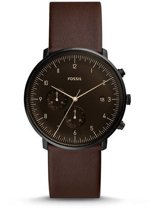 Fossil Chase Timer Chronograph Whisky Leather Watch