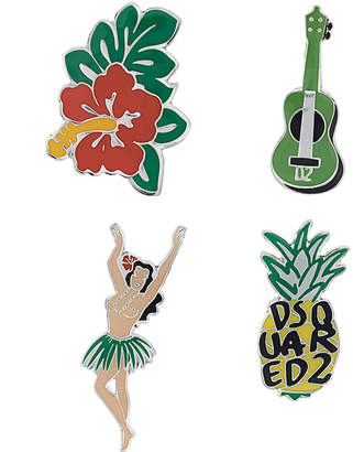 DSQUARED2 Hawaii themed pins