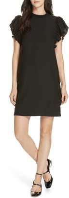 Kate Spade ruffle crepe shift dress