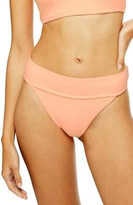Topshop Velour High Waist Bikini Bottoms