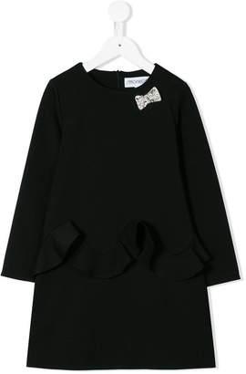 Simonetta ruffle-trimmed shift dress