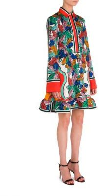 Emilio Pucci Twill Printed Dress $2,560 thestylecure.com