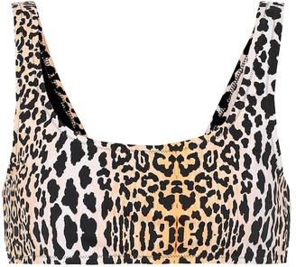 Reina Olga Rocky leopard-print bikini top