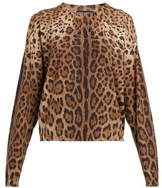 Dolce & Gabbana Leopard Print Cashmere Sweater - Womens - Leopard