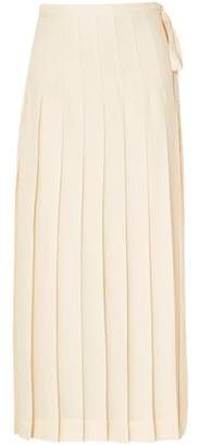Victoria Beckham Pleated Crepe Maxi Skirt