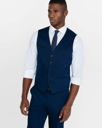 Express Cotton Sateen Navy Blue Vest