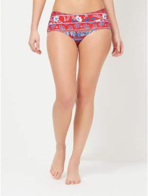 George Paisley Print Bikini Bottoms