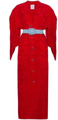 Rosie Assoulin kimono jacquard dress
