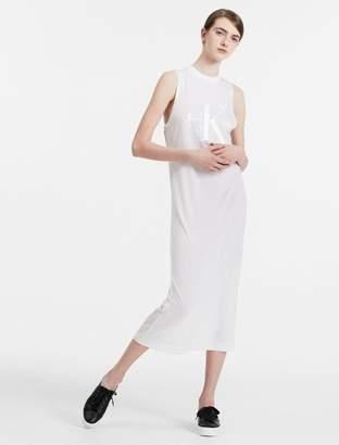 Calvin Klein logo long maxi dress