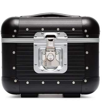 Fpm – Fabbrica Pelletterie Milano aluminium and leather vanity case
