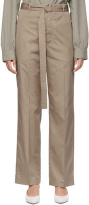 Joseph Beige Bird Belt Trousers