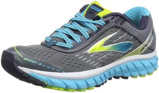 Brooks Women's Ghost 9 Running Shoe (BRK-120225 1B 3628730 6 BLK/GRP/Cer)