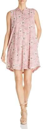 Bobeau B Collection by Taryn Pinstripe Floral-Print Shirt Dress