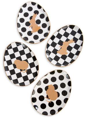 Mackenzie Childs MacKenzie-Childs Easter Egg Plates, Set of 4