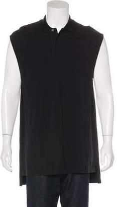 Givenchy Longline Sleeveless Polo Shirt