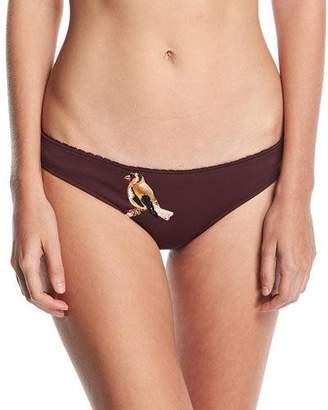 Stella McCartney Classic Bikini Swim Bikini Bottom w/ Embroidery