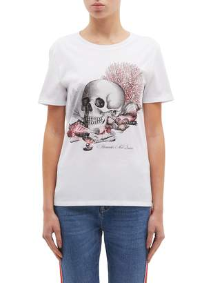 Alexander McQueen 'Cabinet of Shells' graphic print T-shirt