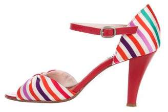 Marc Jacobs Striped Satin sandals