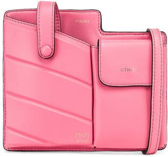 Fendi Mini Bustine Two Pocket Crossbody Bag in Pink | FWRD