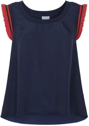 Claudie Pierlot Ruffle Hem Sleeveless Shirt