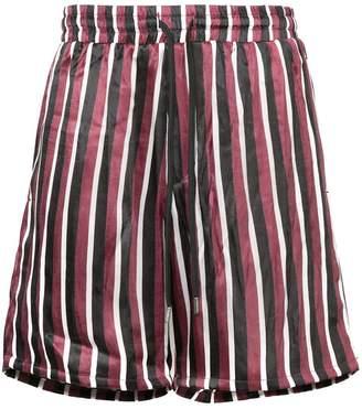 Stampd striped pyjama style shorts