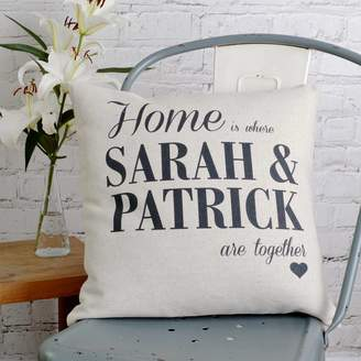 Vintage Designs Reborn Personalised Home Is Where We Are Cushion Cover