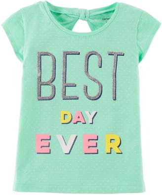 Carter's Girls 4-8 Glitter Graphic Bow Back Tee
