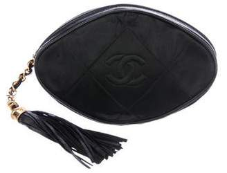 Chanel Quilted Satin Clutch